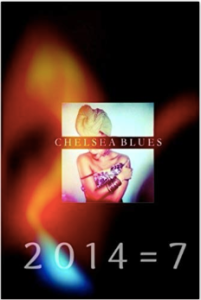 Chelsea Blues first poetry book 2014=7, this image is the cover of the poetry book, which can be purchased on amazon